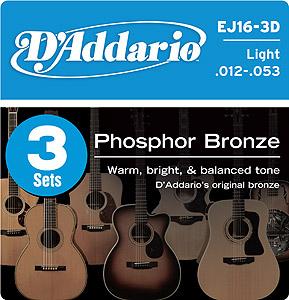 Daddario EJ16 - 3 Sets