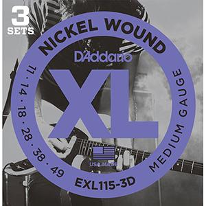Daddario EXL115 - 3 Sets