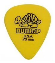 Dunlop Yellow .73mm Thickness Tortex (72 Picks) [418173]