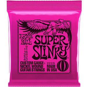 Ernie Ball 2223 Nickel Super Slinky Wound Electric Strings