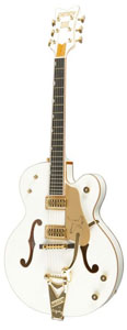 G6136T White Falcon with Bigsby White Blemished