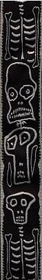 Planet Waves Joe Satriani Guitar Strap - Black/Grey Skull N Bones