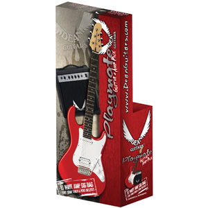 Dean Playmate Avalanche Guitar Package - Metallic Red [PLAYAV09H MRD PK]