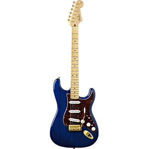 Deluxe Players Stratocaster - Saphire Blue Transparent Maple