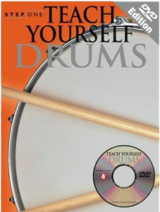 Music Sales Teach Yourself Drums Book w/ DVD