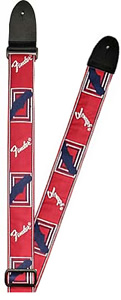Fender Monogrammed Strap - Red/White/Blue [0990682000]
