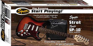 Squier Stop Dreaming, Start Playing SE Special with Squier SP-10 Amp - Arctic White