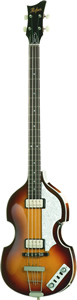 HCT-500/1 - Limited Edition Violin Bass Transparent Red Finish w/ Case