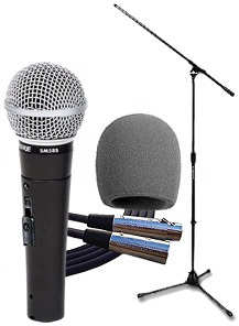 Shure SM58S Classic Mic Pack with On-Off Switch []