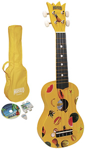 Mahalo Ukulele Kit - Yellow [UK-30Y]