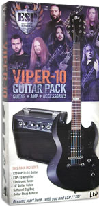 ESP LTD Viper-10 Guitar Pack - Black Finish [LVIPER10PACK]