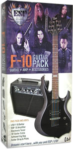ESP LTD F-10 Guitar Pack - Black Finish [LF10PACK]