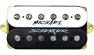 Dimarzio Michael Schenker Neck Position (*Bulk Pac) - Black/White with Logo [DHNN2BCL]