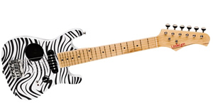 Washburn Little Lyon Mini Electric Guitar with Built in Amp - Zebra Finish [LLEG1Z]