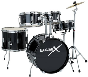Basix JU-3 - Junior Drum Set Black [JU-3]