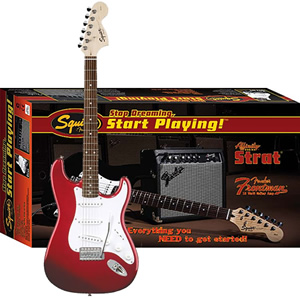 Squier Stop Dreaming, Start Playing! Affinity Strat Special with Frontman Amp15G - Metallic Red [0301605025]