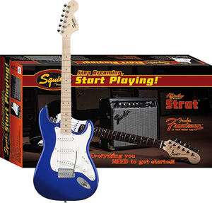 Squier Stop Dreaming, Start Playing Affinity Strat Special with Frontman Amp15G  - Metallic Blue [0301605095]