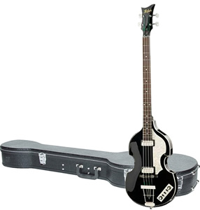 Hofner Icon Series Beatle Bass Guitar with Case - Black Sparkle Finish [HI-BB-MBK]