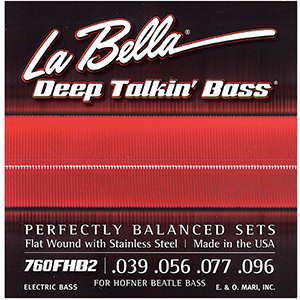 LaBella 760FHB2 Flatwound Bass 4-String Set .039-.096