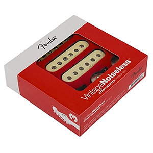 Fender Strat Vintage Noiseless Pickup Set Aged Creme
