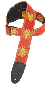 Levys MPJG Guitar Strap Red Sun [MPG-Red-Sun]