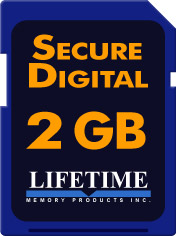 Lifetime Memory 2 GB SD Media [10086-2]