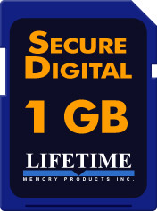 Lifetime Memory 1GB SD Media