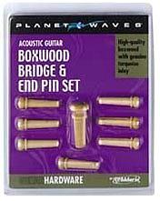 Planet Waves Bridge Pin Set - Boxwood/Turquoise Set [PWPS8]