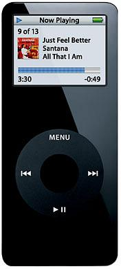 Apple iPod Nano 8GB Black [MA497LL/A]