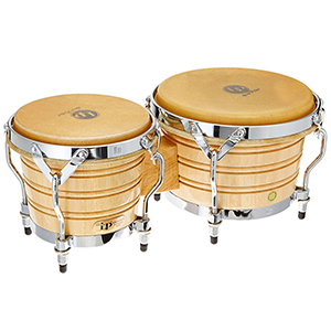 LP LP201A-3 Wood Bongos - Natural