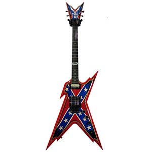 Dean USA Razorback Rebel Flag Paint [USA RAZORBACK CONFEDERATE]