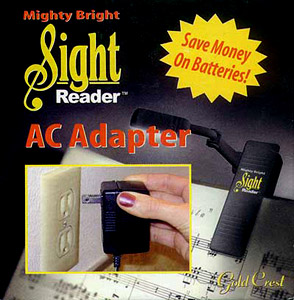 Mighty Bright Sight Reader AC Adapter [09-37372-TR]