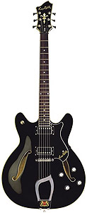 Hagstrom Viking Electric Guitar - Black Gloss [AMS-VIK-BLK]