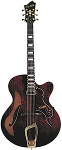 Hagstrom Jazz Model HL-550 - Gloss Natural Mahogany
