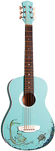 Luna Guitars Aurora Aqua Splash Mermaid Mini []