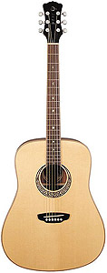 Luna Guitars Muse M Dreadnought - Satin Natural []