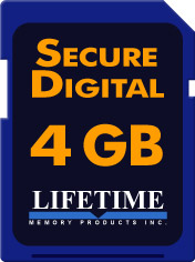 Lifetime Memory 4 GB SDHC Class 6 Media [10086-4]