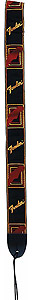 Fender Monogrammed Strap - Black/Yellow/Red