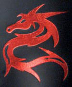 Icon Leather - Red Dragon