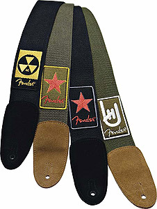 Fender Patchworks Cotton Strap - Red Star Green [0990672003]