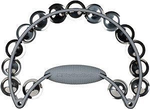 Rhythm Tech Pro 20 Stainless Steel Jingles Tambourine Black