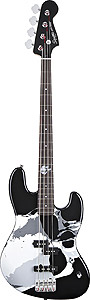 Squier Frank Bello Jazz Bass - Black [0301072506]