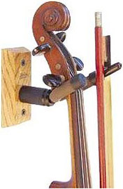 String Swing Violin & Bow Hanger - Cherry