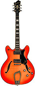 Hagstrom Viking Deluxe Flame Maple - Cherry Sunburst [AMS-VIDLX-CSB 15008]