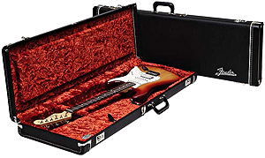 Fender Strat/Tele® Deluxe™ Case - Black with Orange Plush