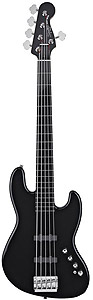 Squier Deluxe™ Jazz Bass® V Active - Black [0300575506]