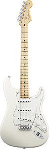 American Standard Stratocaster - Olympic White with Case - Maple