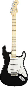 American Standard Stratocaster - Black with Case - Maple