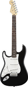 Fender American Standard Stratocaster® Left Handed - Black with Case - Rosewood [0110420706]