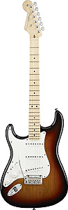American Standard Stratocaster Left Handed - 3-Color Sunburst with Case - Maple